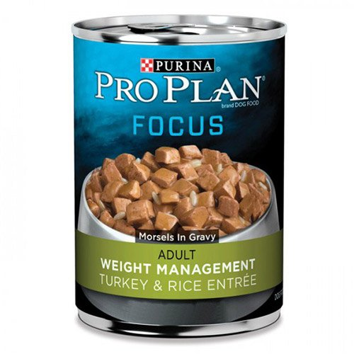 Pro Plan Dog Adult Weight Management Turkey & Rice Entree 368g X 12 Cans