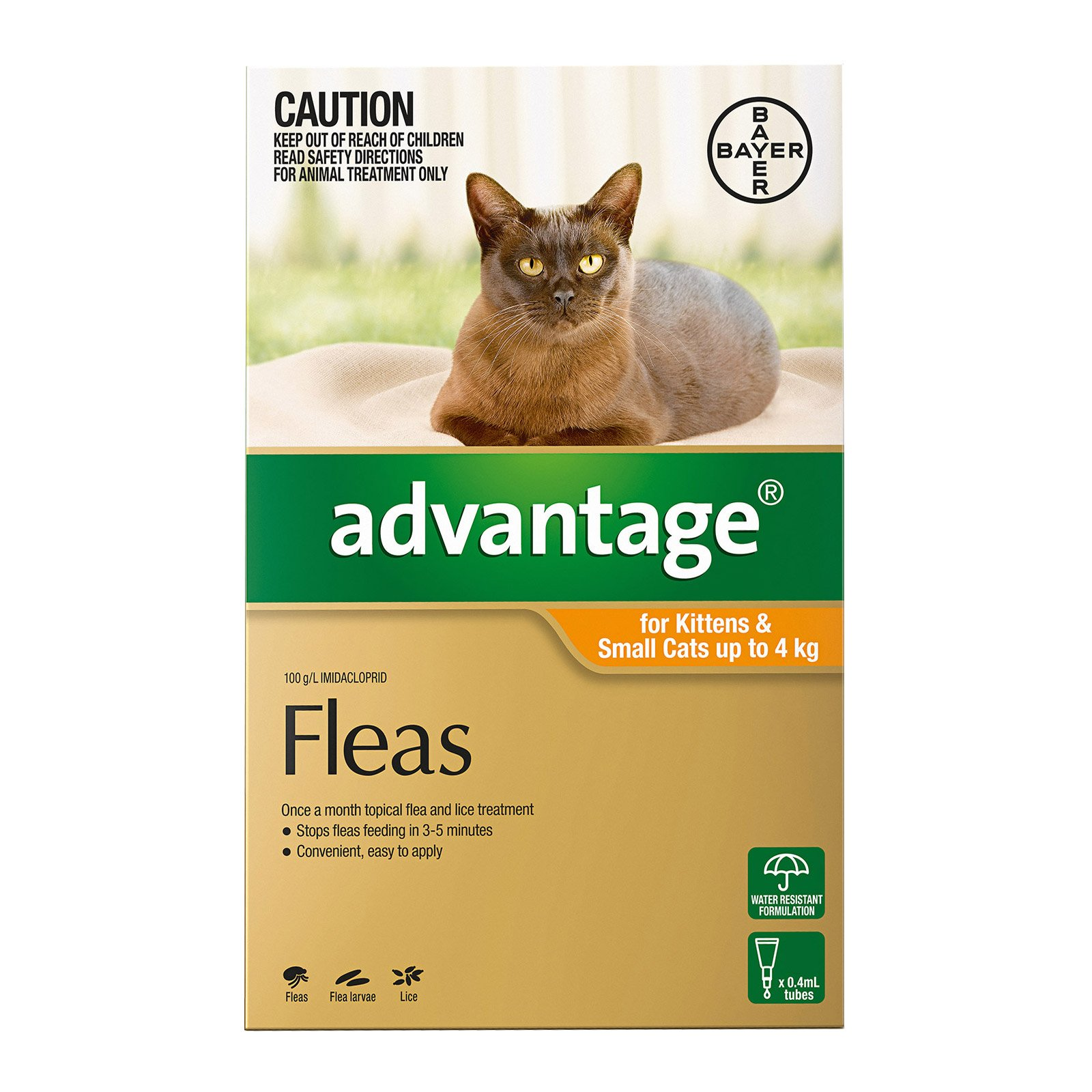 Advantage For Kittens & Small Cats Up To 4Kg (Orange)