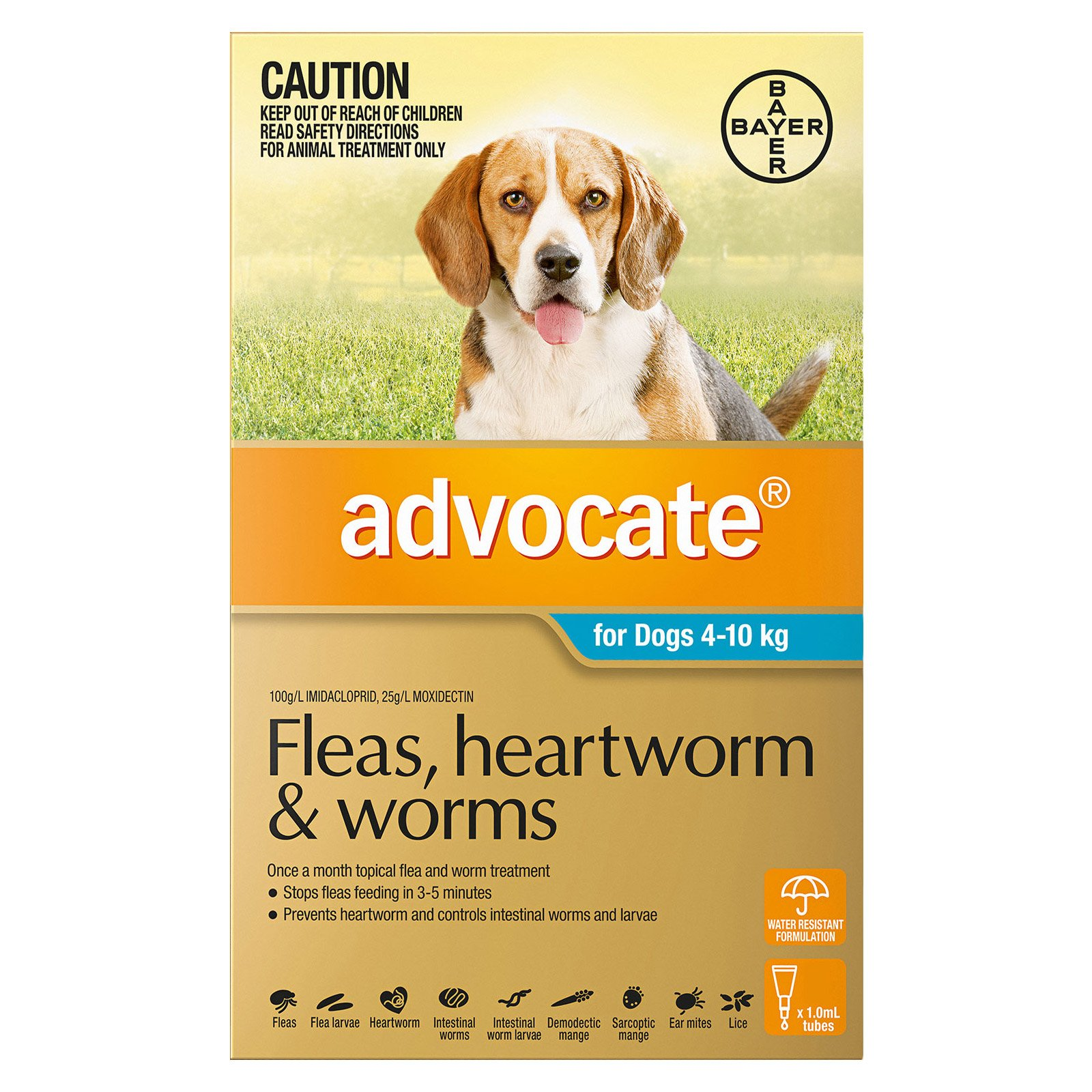 Advocate for Dogs 4 to 10 Kg (Medium Dogs) Aqua