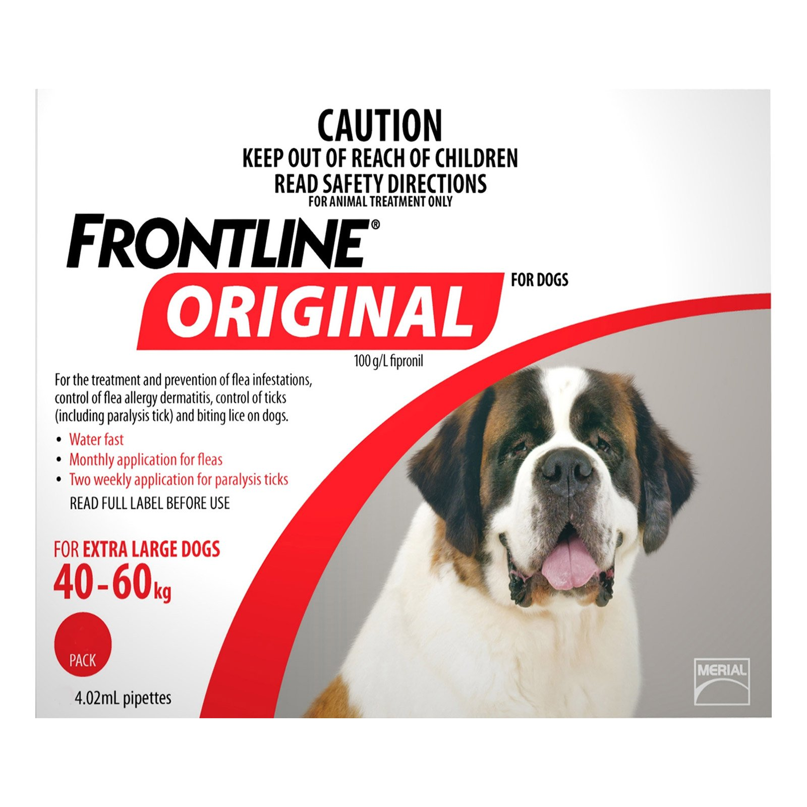 Frontline Original For Extra Large 40-60 Kg (Red)