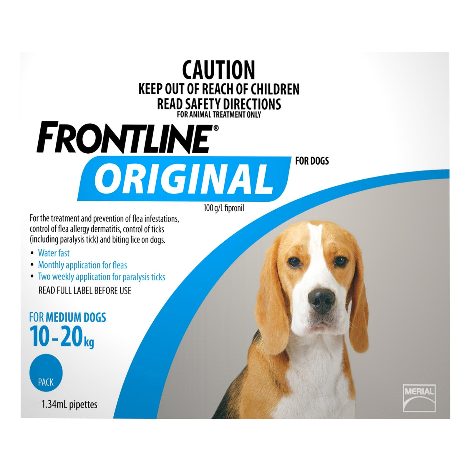 Frontline Original For Medium Dogs 10-20Kg (Blue)