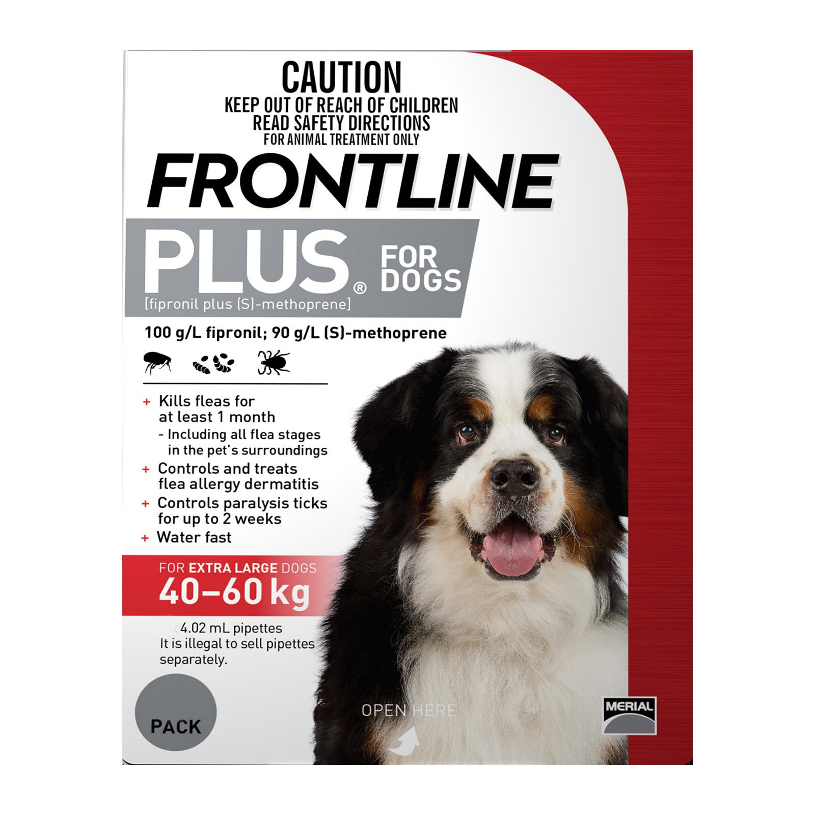 Frontline Plus For Extra Large Dogs 40 To 60Kg (Red)