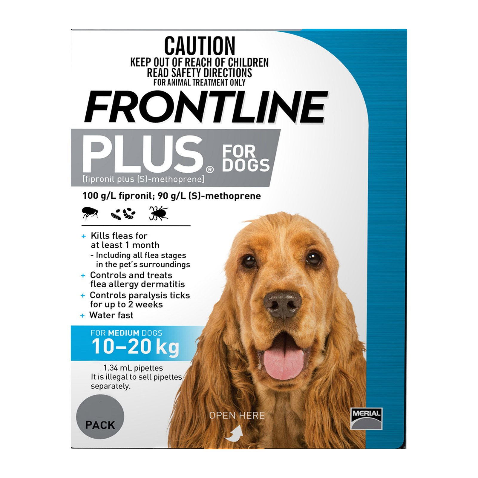 Frontline Plus For Medium Dogs 10 To 20Kg (Blue)