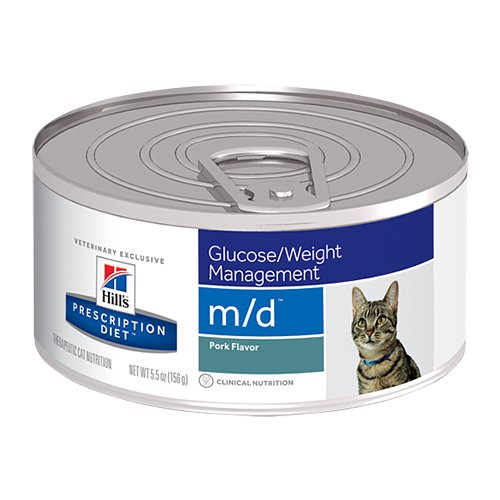 Hill's Prescription Diet m/d Glucose/Weight Management Canned Cat Food 156 Gm