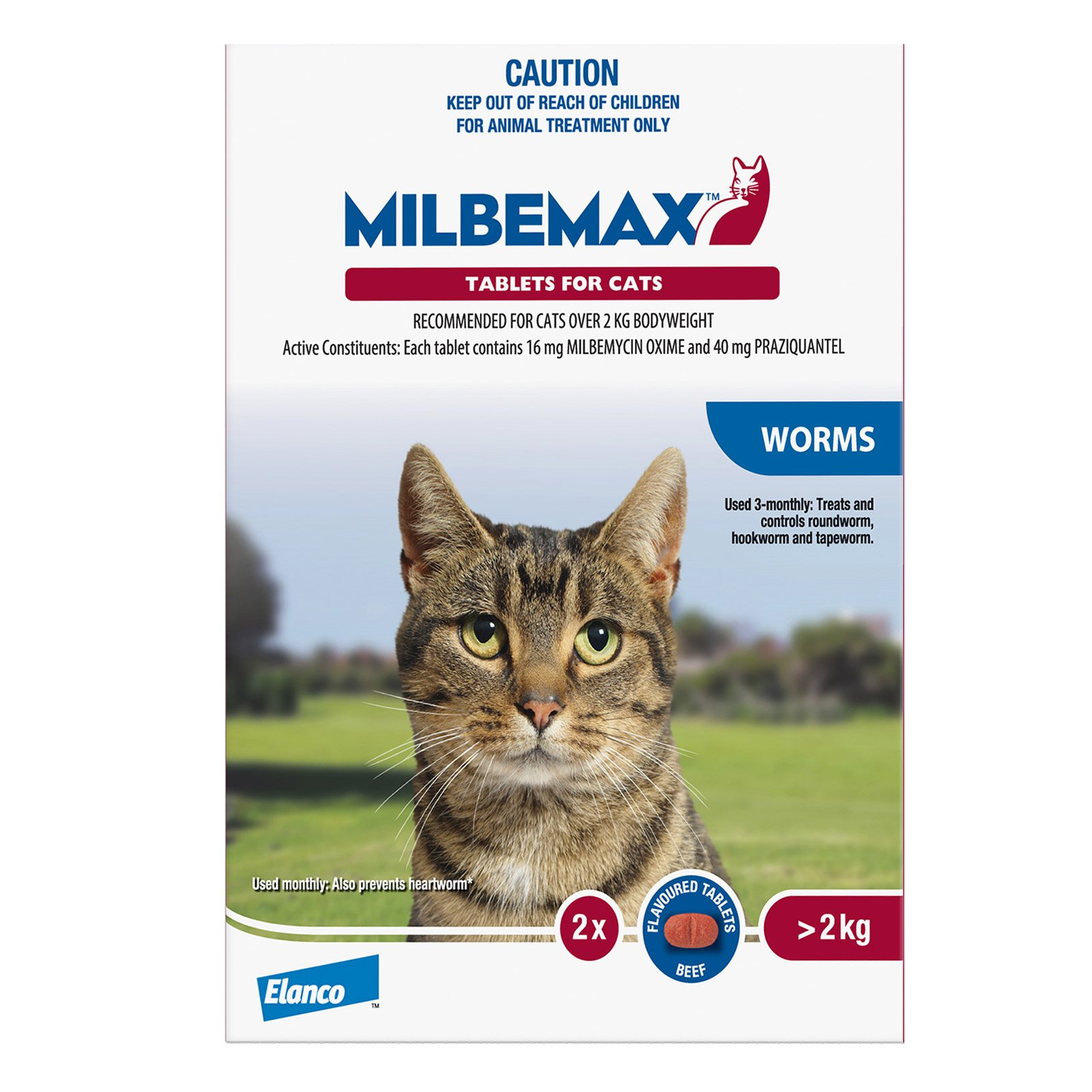 Milbemax Allwormer Tablets For Large Cats Over 2Kg