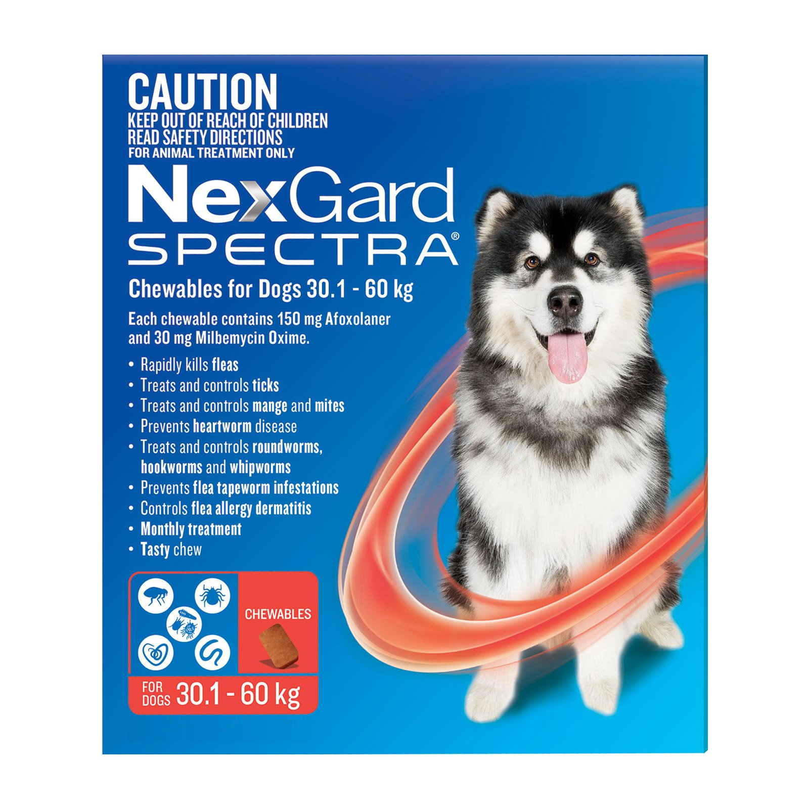 Nexgard Spectra Extra Large Dogs (30.1-60kg) Red