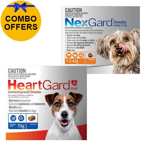Heartgard + Nexgard Combo Pack