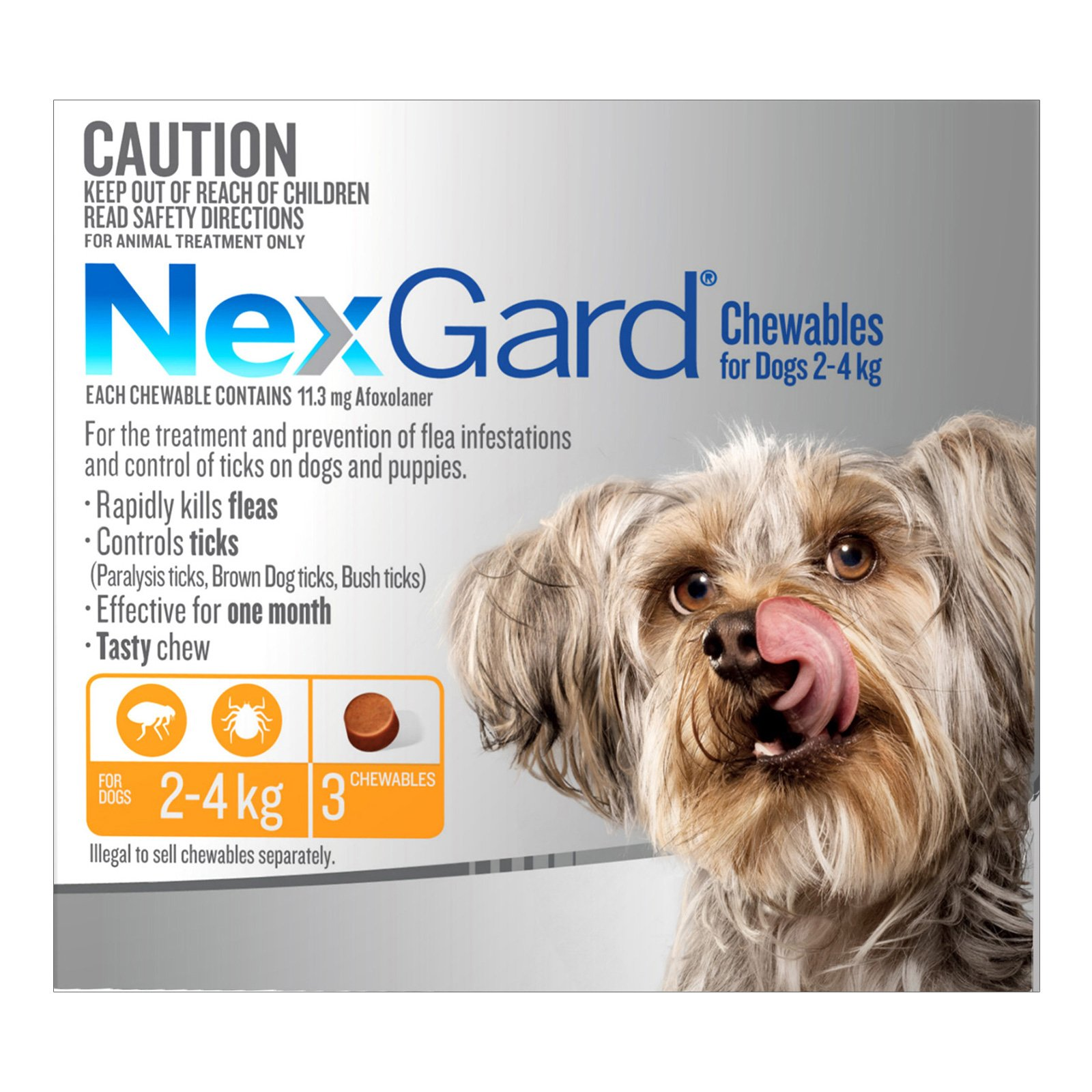Nexgard Chewables For Very Small Dogs (2 - 4 Kg) Orange