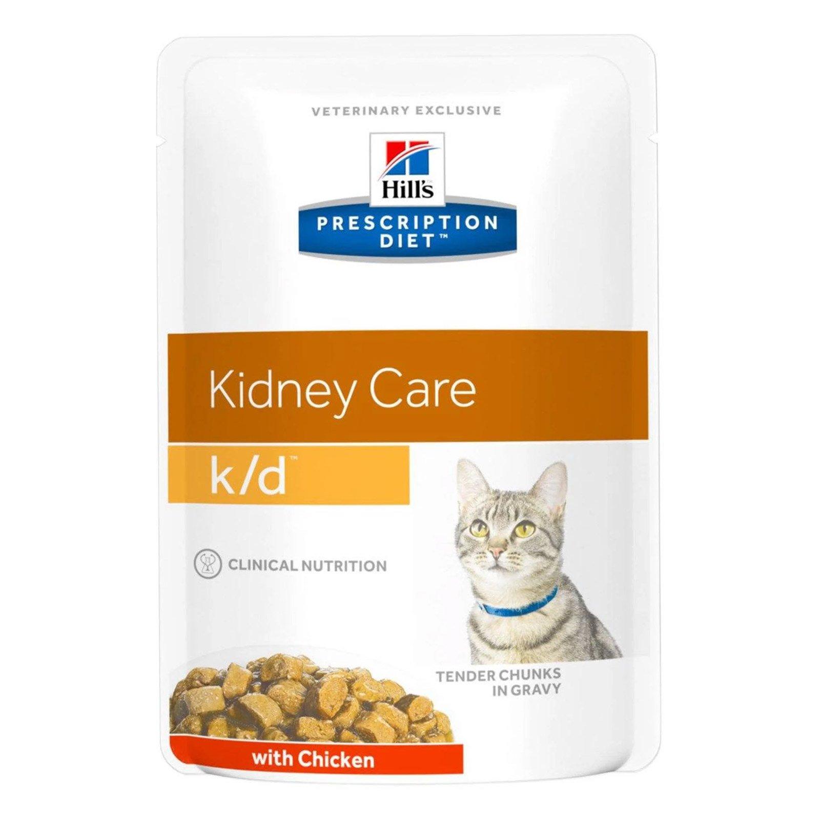 Hill's Prescription Diet k/d Kidney Care Chicken Cat Wet Pouch 85gmX12
