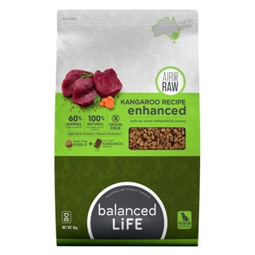 Balanced Life Enhanced Dry Dog Food With Kangaroo Meat Pieces