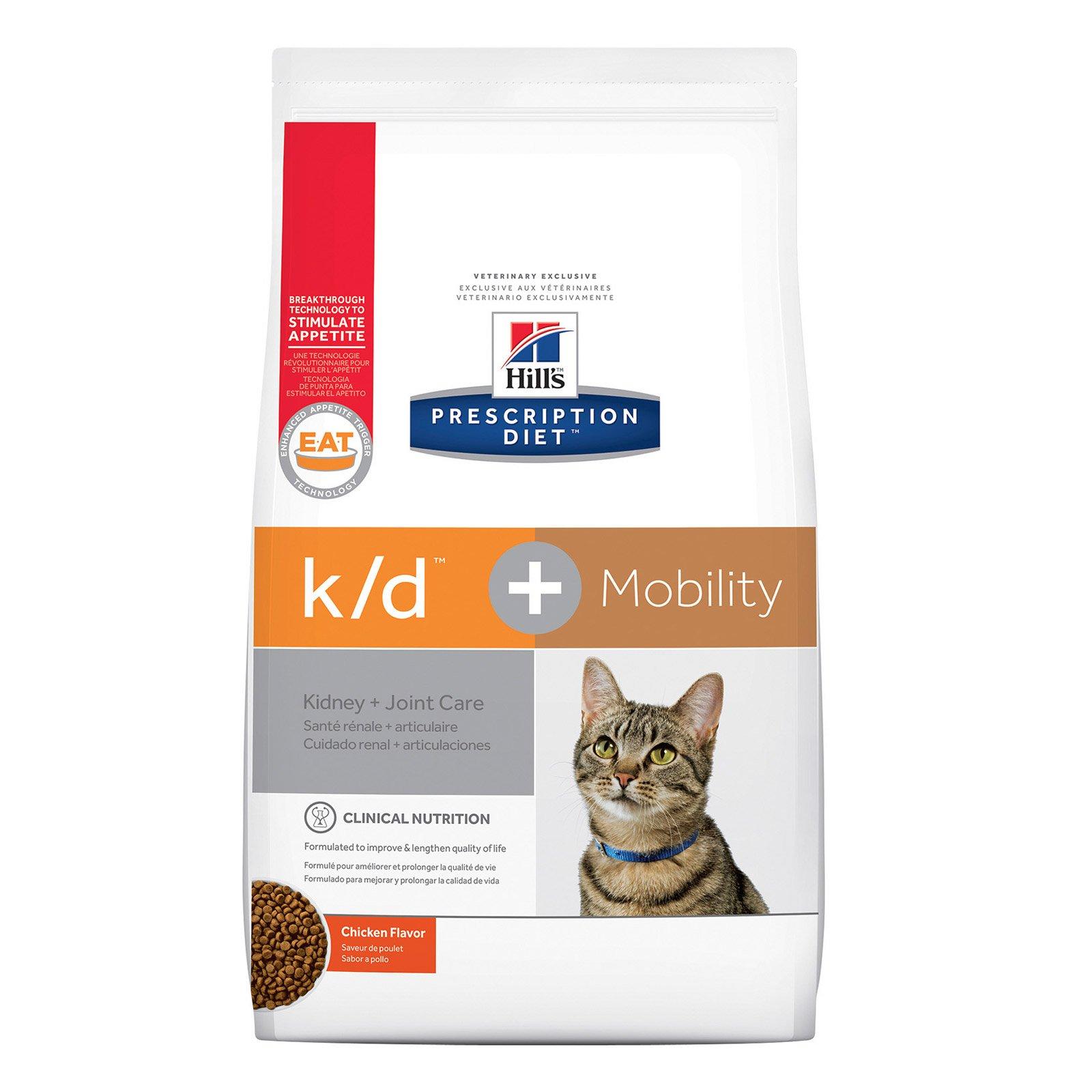 Hill's Prescription Diet k/d + Mobility Chicken Dry Cat Food