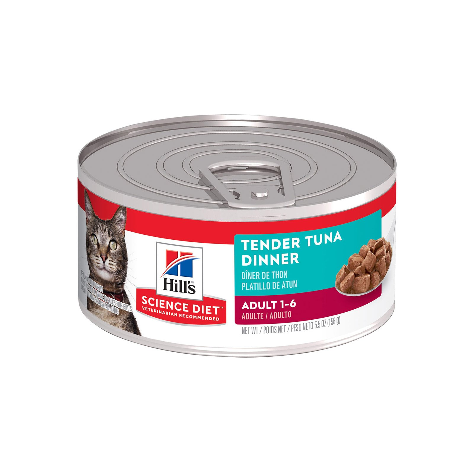Hill's Science Diet Adult Tender Dinners Tuna Canned Cat Food 156 Gm