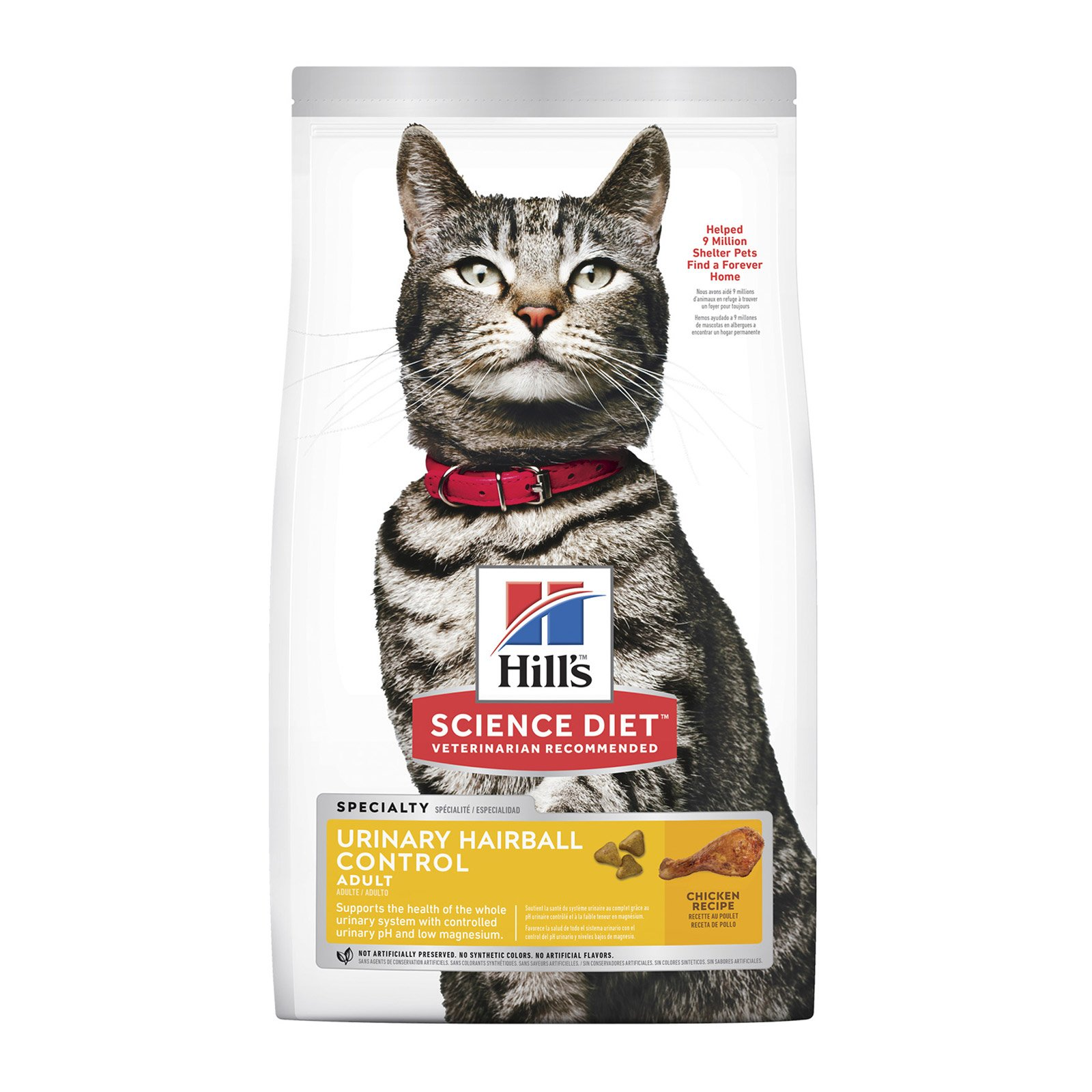 Hill's Science Diet Adult Urinary Hairball Control Chicken Dry Cat Food