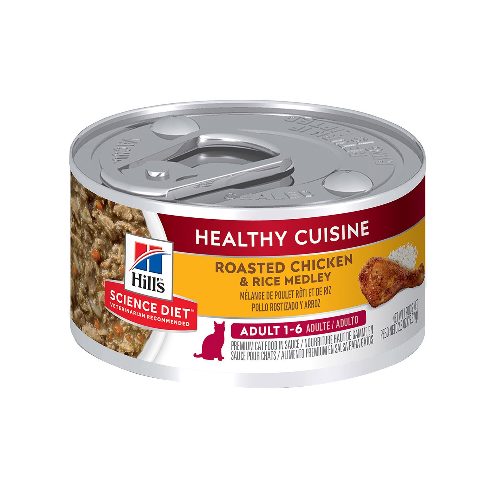 Hill's Science Diet Adult Healthy Cuisine Roasted Chicken & Rice Medley Canned Cat Food