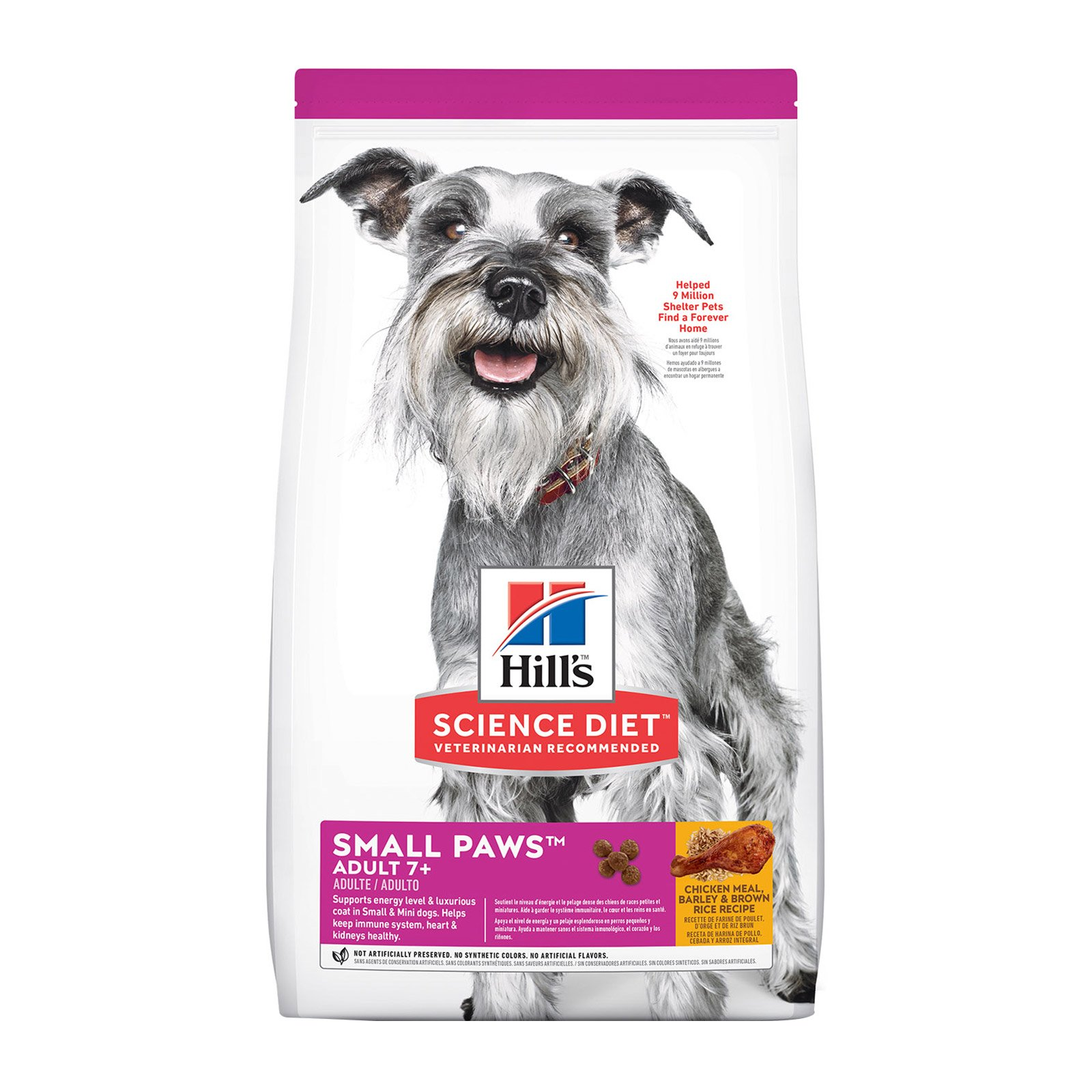 Hill's Science Diet Adult 7+ Small Paws Chicken, Barley & Rice Dry Dog Food