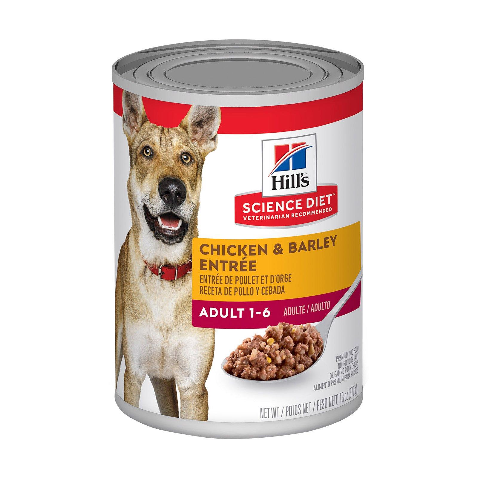 Hill's Science Diet Adult Chicken & Barley Entrée Canned Dog Food 370 Gm