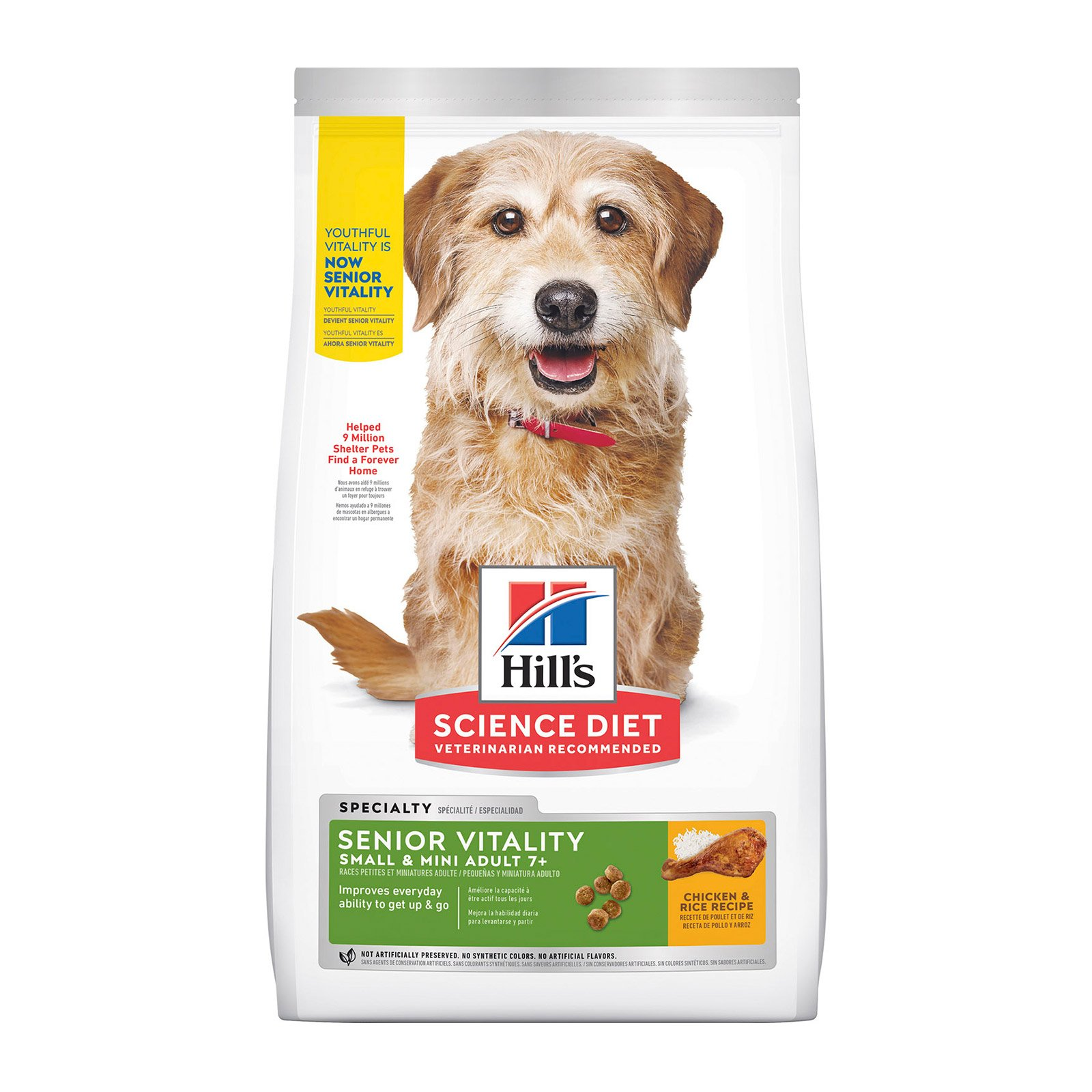 Hill's Science Diet Adult 7+ Youthful Vitality Small & Mini Chicken & Rice Dry Dog Food