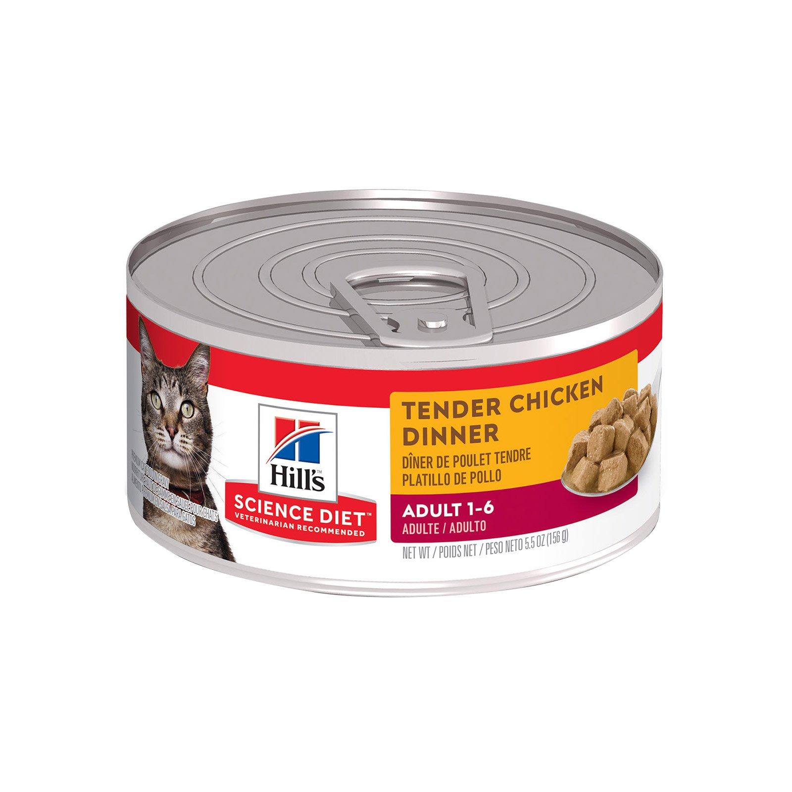 Hill's Science Diet Adult Tender Chicken Dinner Canned Wet Cat Food 156 gm