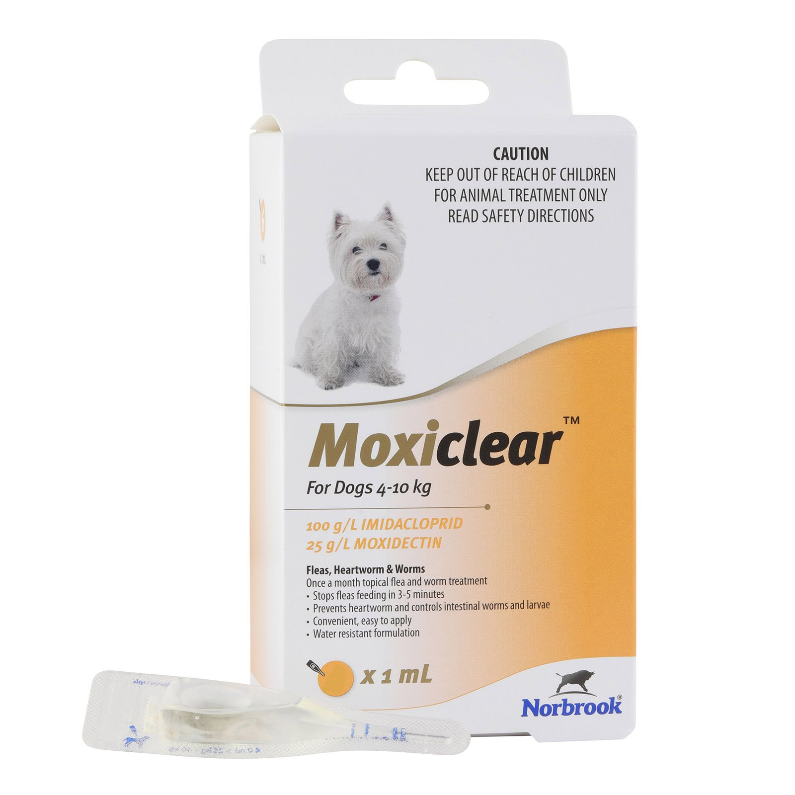 Moxiclear For Small Dogs 4-10 Kg (Yellow) 6 Pack