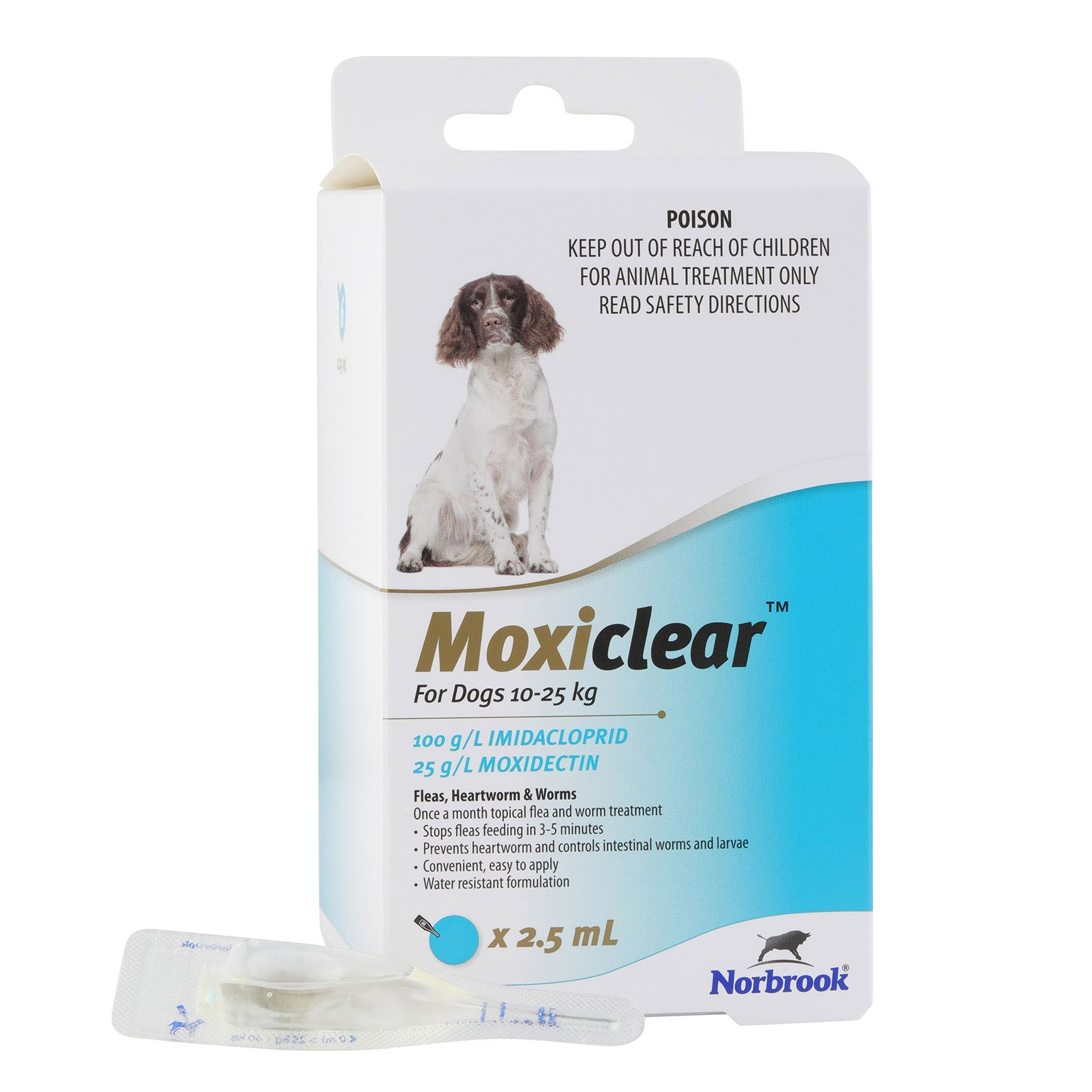 Moxiclear For Medium Dogs 10-25 Kg (Blue) 6 Pack Special Clearance Sale (Extra 20% Off)
