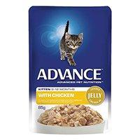 Advance Kitten Chicken in Jelly Wet Food Pouch 85gmX12