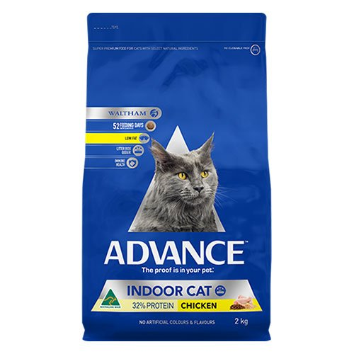 Advance Adult Indoor With Chicken Dry Cat Food