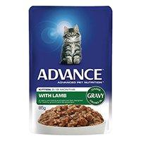 Advance Kitten Lamb in Gravy Cat Wet Food Pouch 85gmX12