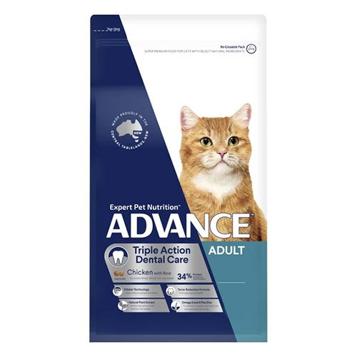 Advance Dental Care Triple Action Adult Dry Cat Food Chicken With Rice