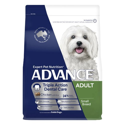 Advance Dental Care Triple Action Adult Small Breed Chicken with Rice Dry Dog Food