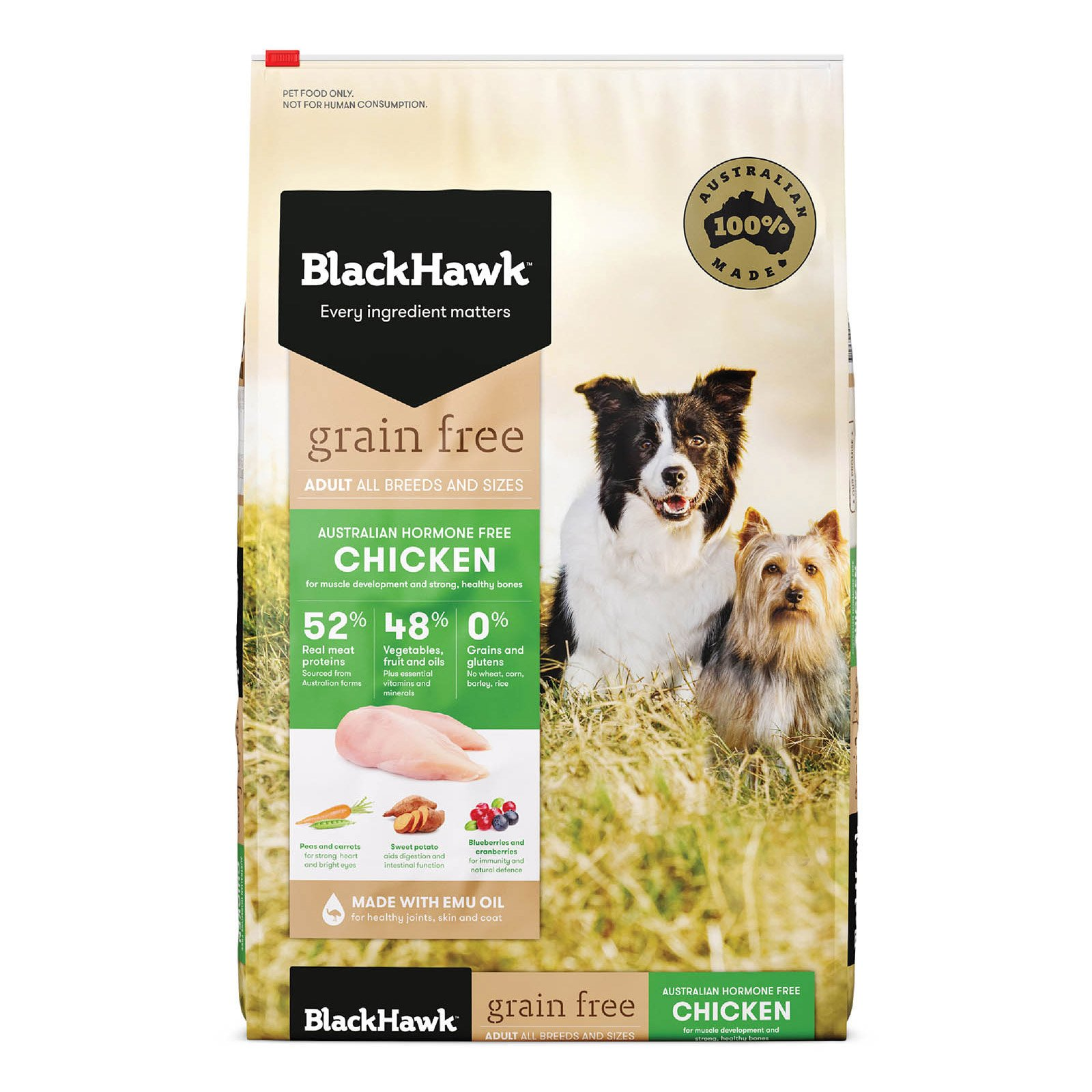 Black Hawk Adult Grain Free Chicken Dog Food