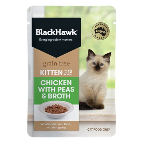 BlackHawk Kitten Chicken/Peas/Broth