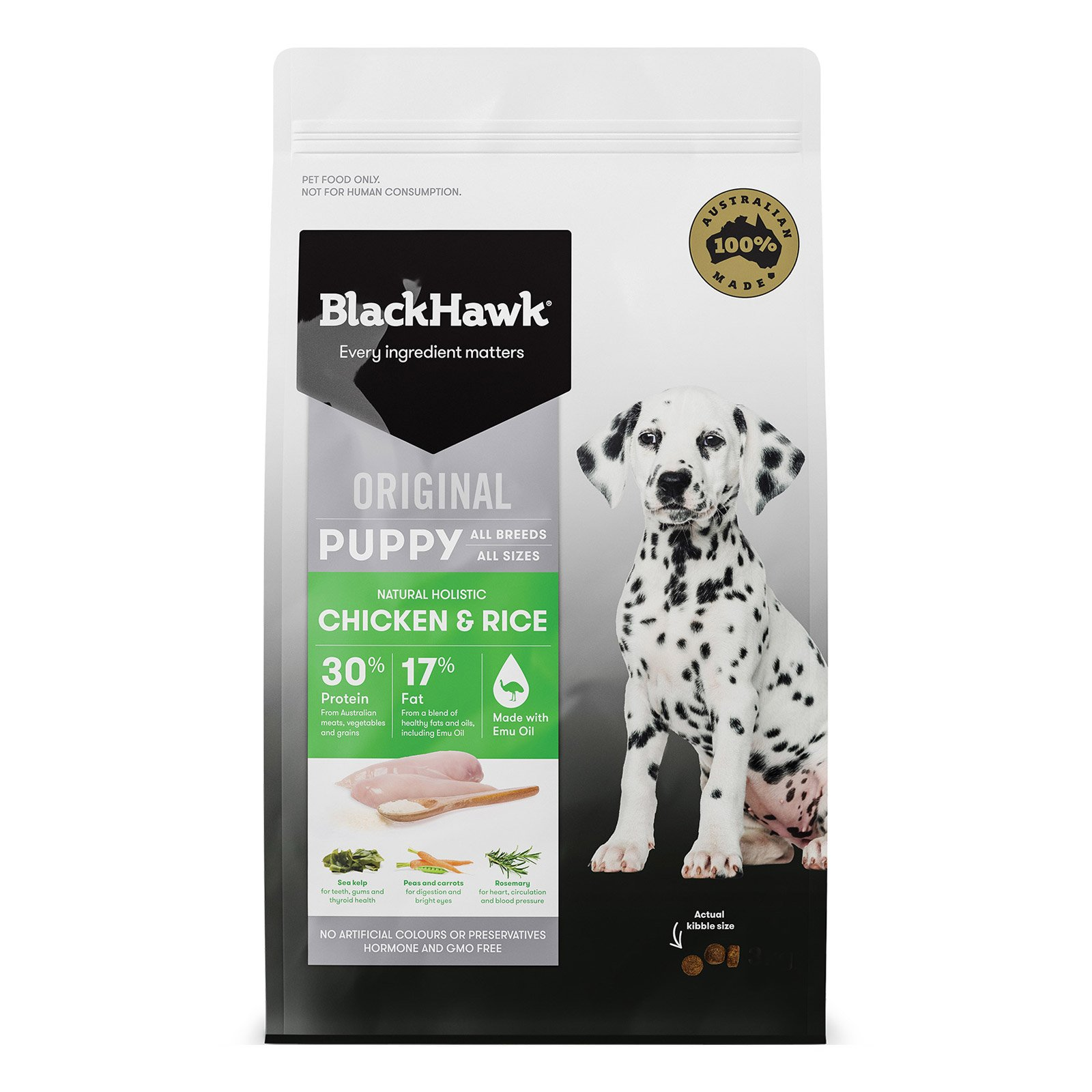 Black Hawk Puppy Chicken & Rice Food