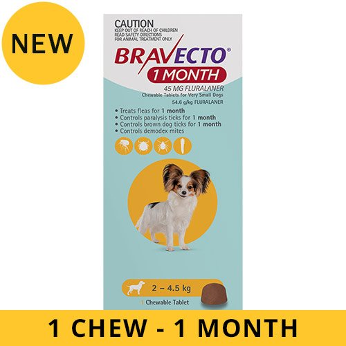 Bravecto 1 Month Chew for Dogs