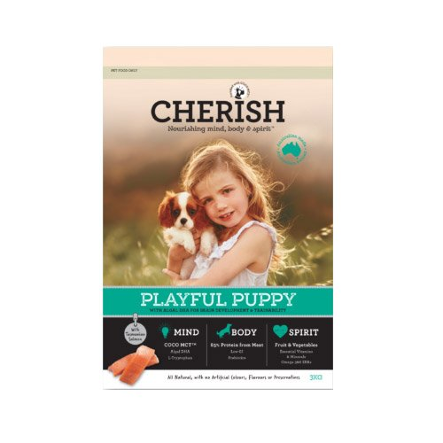 Cherish Playful Puppy Salmon And Chicken Dry Dog Food  15 Kgs