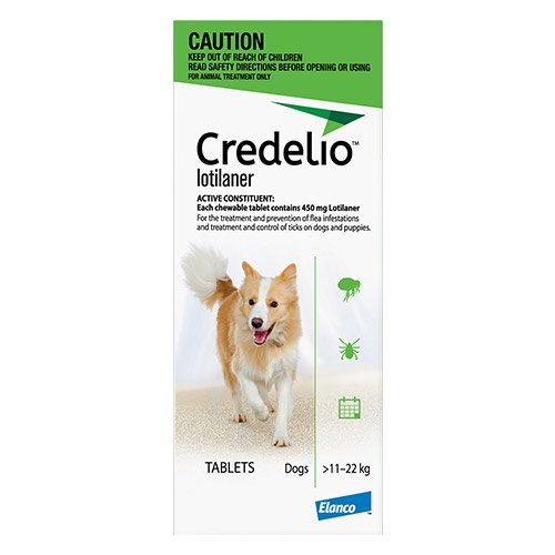 Credelio For Medium Dogs Green 11 - 22kg 6 Pack