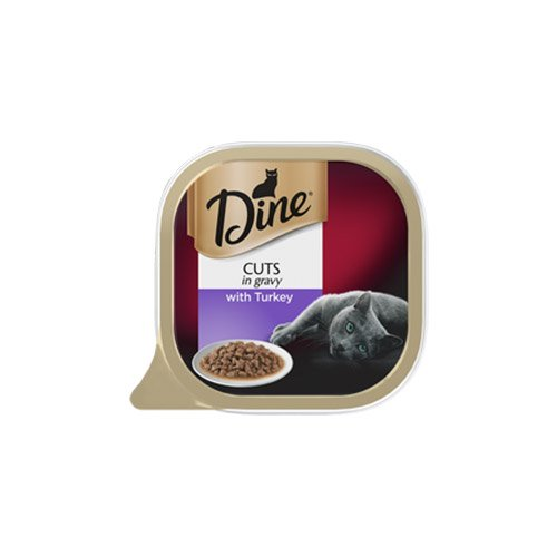 Dine Cat Adult Cuts in Gravy Turkey