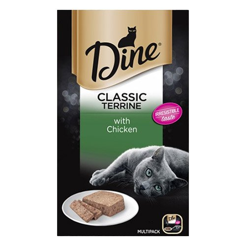 Dine Cat Adult Multipack Classic Terrine Chicken