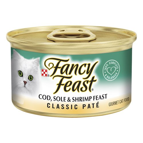 Fancy Feast Cat Adult Classic Cod Sole Shrimp