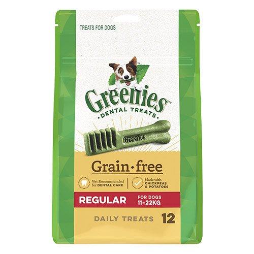 GREENIES Grain Free Regular Dog Dental Treats 11-22 KGS
