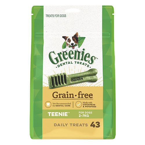 GREENIES Grain Free Teenie Dog Dental Treats 2-7 Kgs