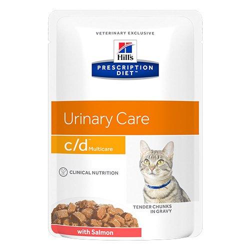 Hill's Prescription Diet c/d Multicare with Salmon Cat Wet Pouch