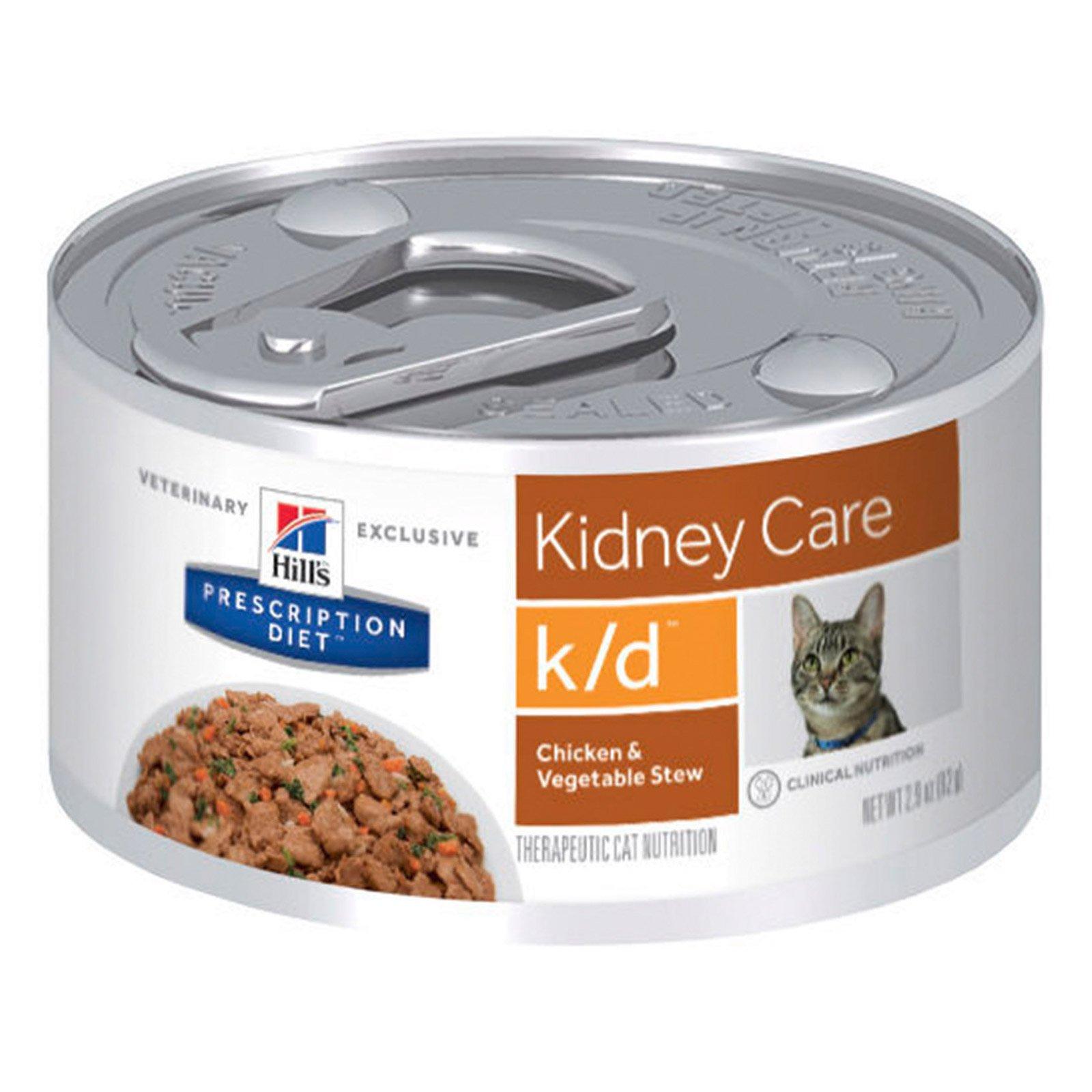 Hill's Prescription Diet K/D Pâté with Chicken Feline Cans 156 Gm