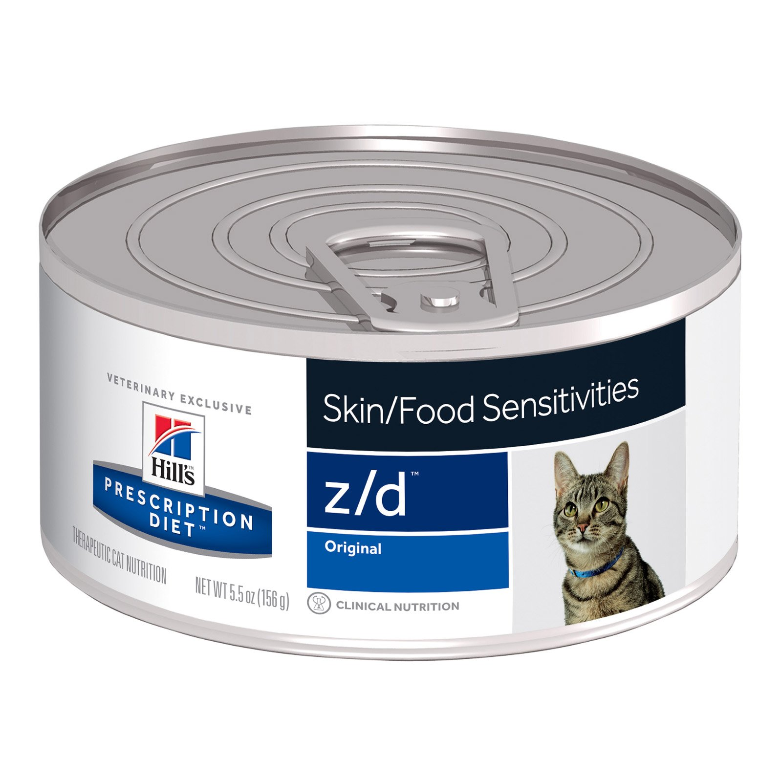 Hill's Prescription Diet Z/D Skin/Food Sensitivities Canned Cat Food 156 Gm 24 Cans