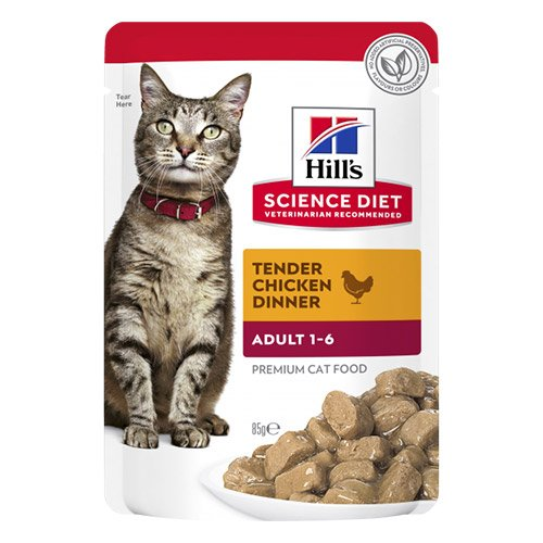 Hill's Science Diet Adult Optimal Care Chicken Tender Wet Pouch