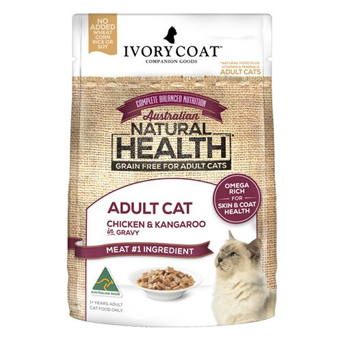 Ivory Coat Cat Adult Grain Free Chicken and Kangaroo in Gravy