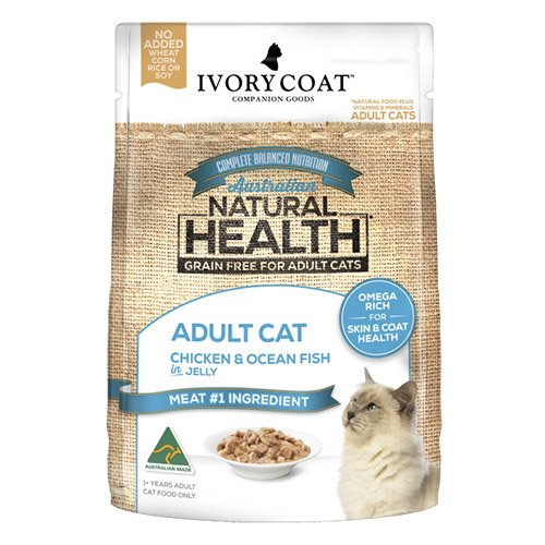 Ivory Coat Cat Adult Grain Free Chicken and Ocean Fish in Jelly