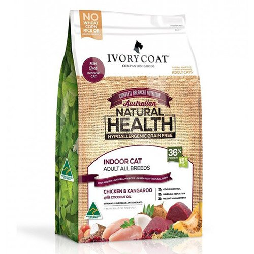 Ivory Coat Cat Adult Grain Free Indoor Chicken and Kangaroo with Coconut Oil