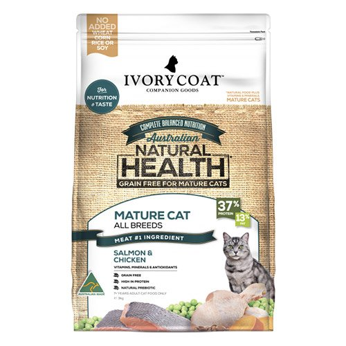 Ivory Coat Cat Mature Grain Free Salmon and Chicken