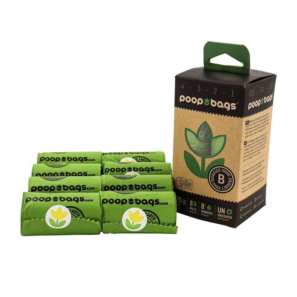 Poop Bags 120 Waste Bags 8 Rolls