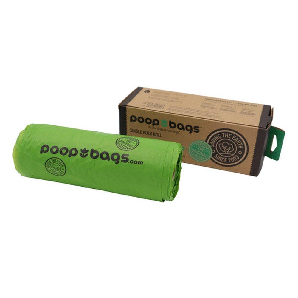 Poop Bags Green Single Bulk Roll  300 Pack